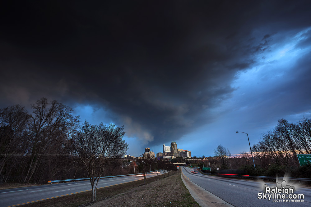Downtown Raleigh Storm March 12, 2014