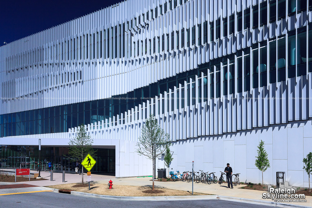 Detail of James B. Hunt Jr. Library at NCSU Centennial Campus