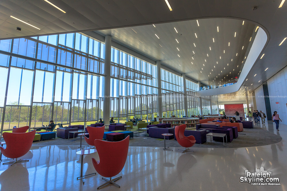 Interior of The Hunt Library at NC State
