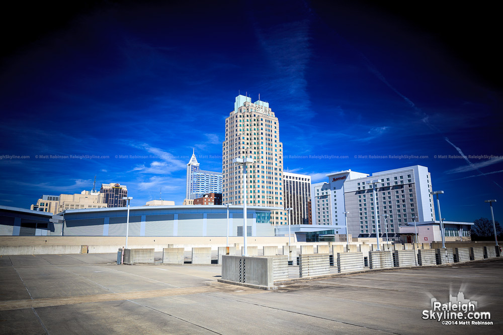 Downtown Raleigh from the Convention Center deck