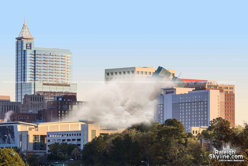 The last glimpse of Raleigh's BB&T Building