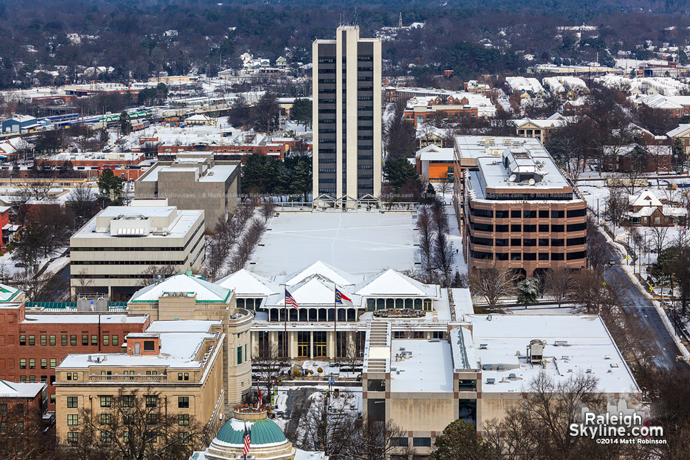 Halifax Mall and Archdale building in the snow
