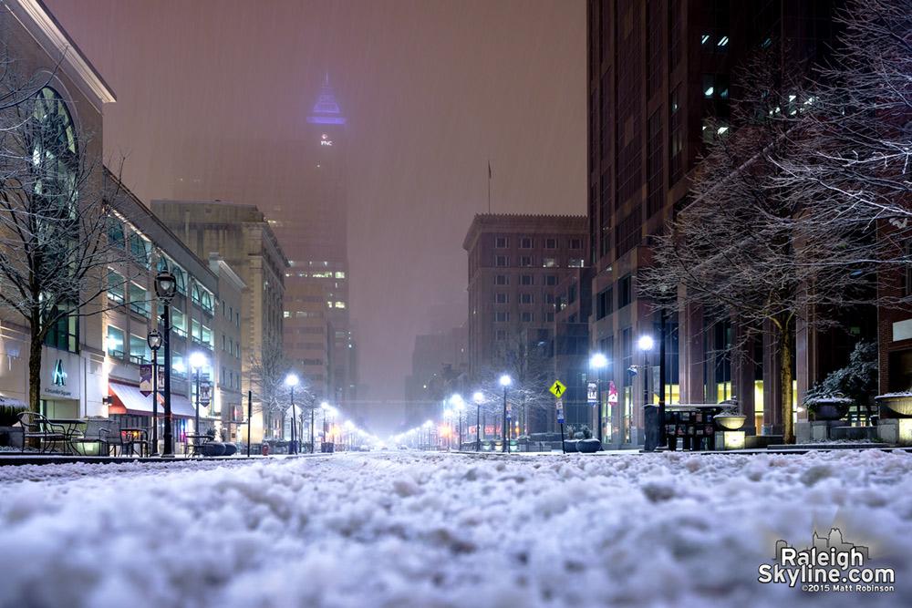 Snowy Fayetteville Street