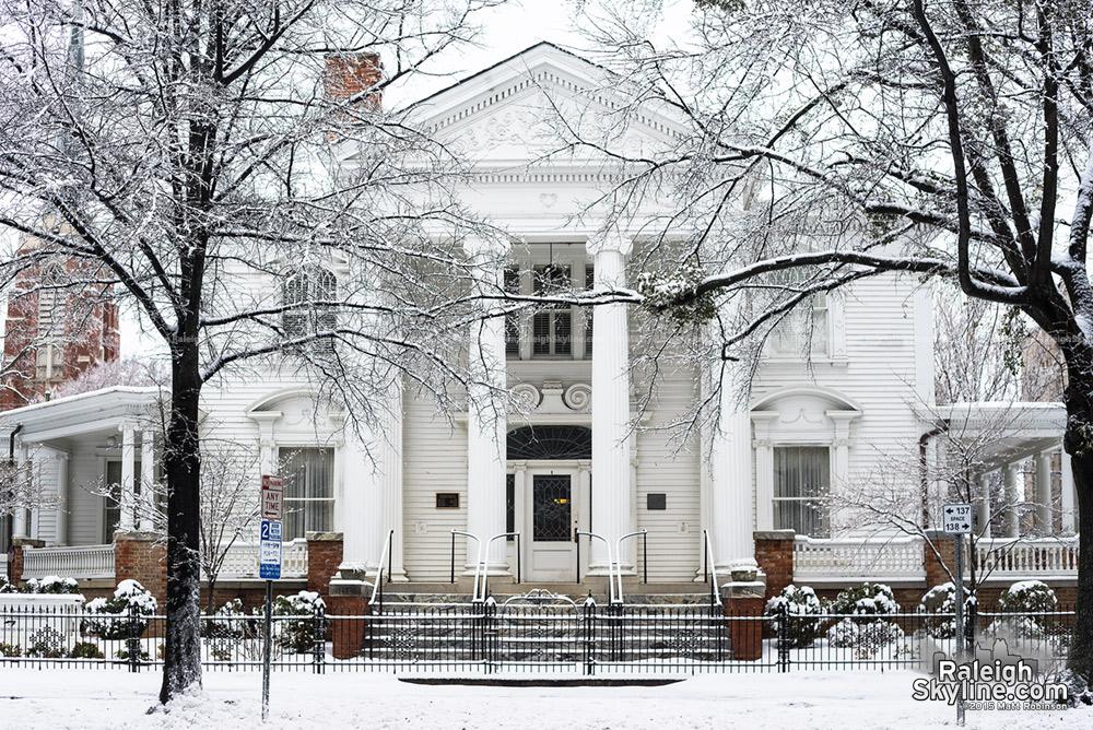 Democratic Headquarters in the snow