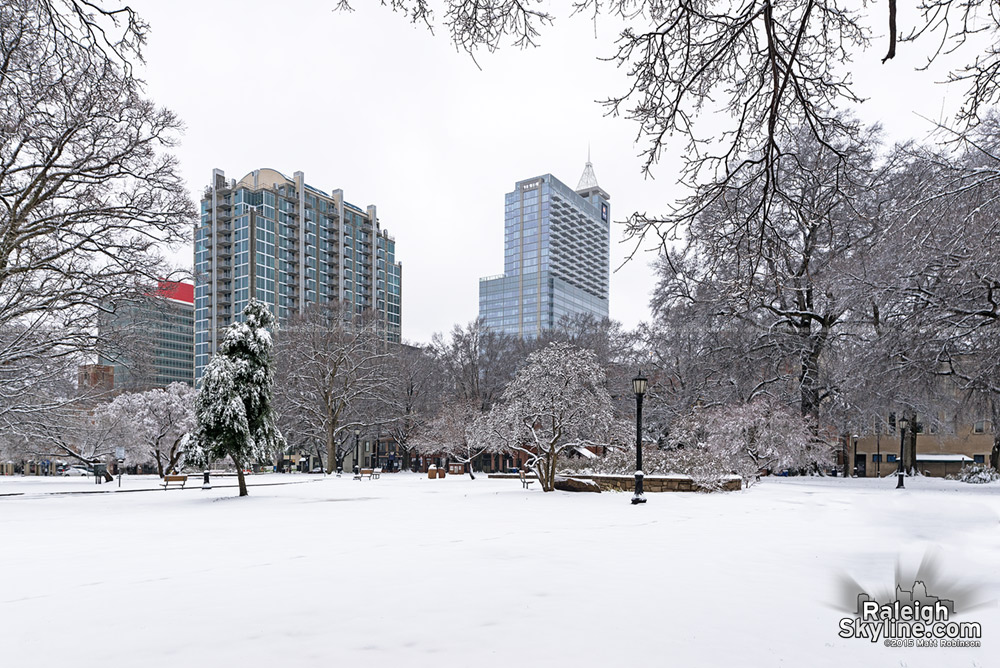 Moore Square in the winter