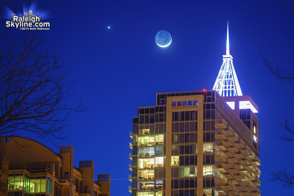 Mars Venus and Moon Conjunction with PNC Plaza