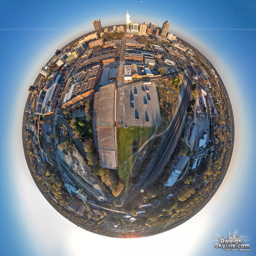 Globe Aerial of Boylan Wye and Downtown Raleigh