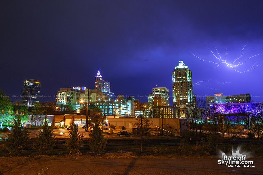 Downtown Raleigh thunderstorm