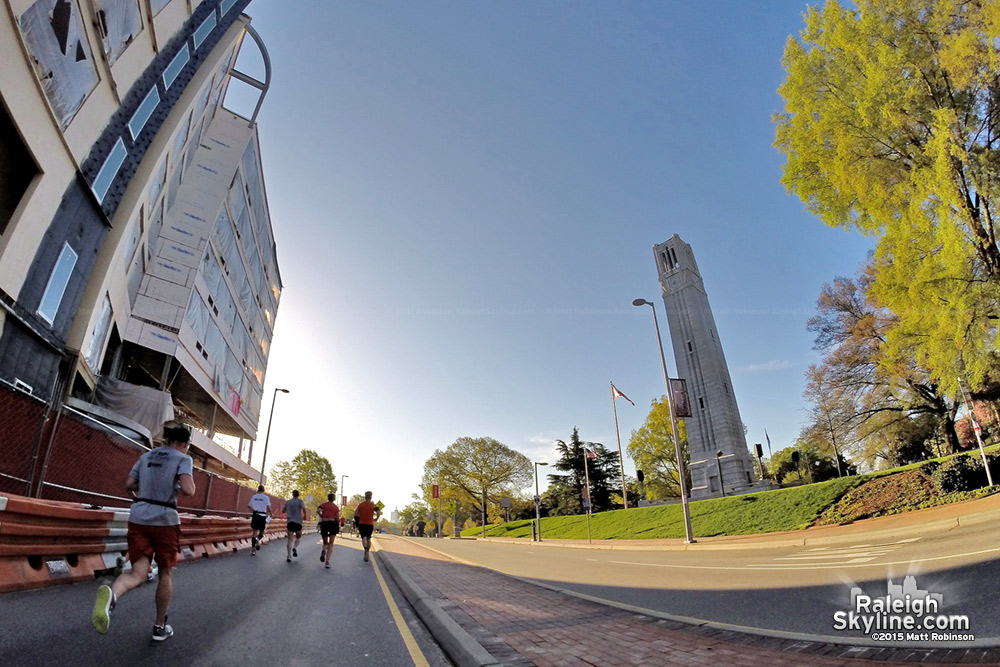 NCSU Belltower during the Rock 'n' Roll Half Marathon