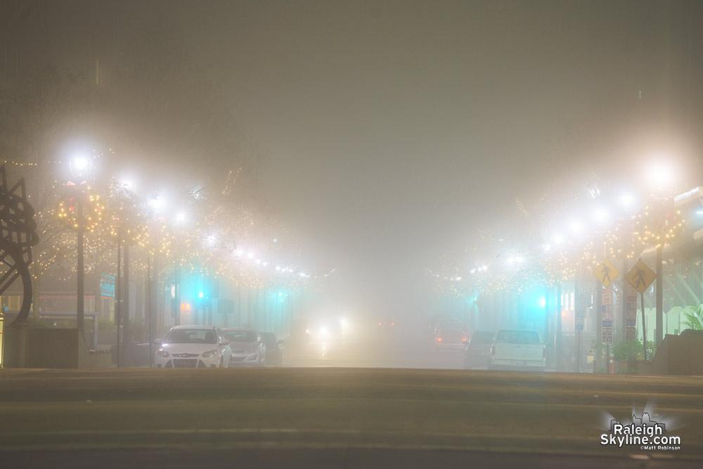 Fayetteville Street in the Fog