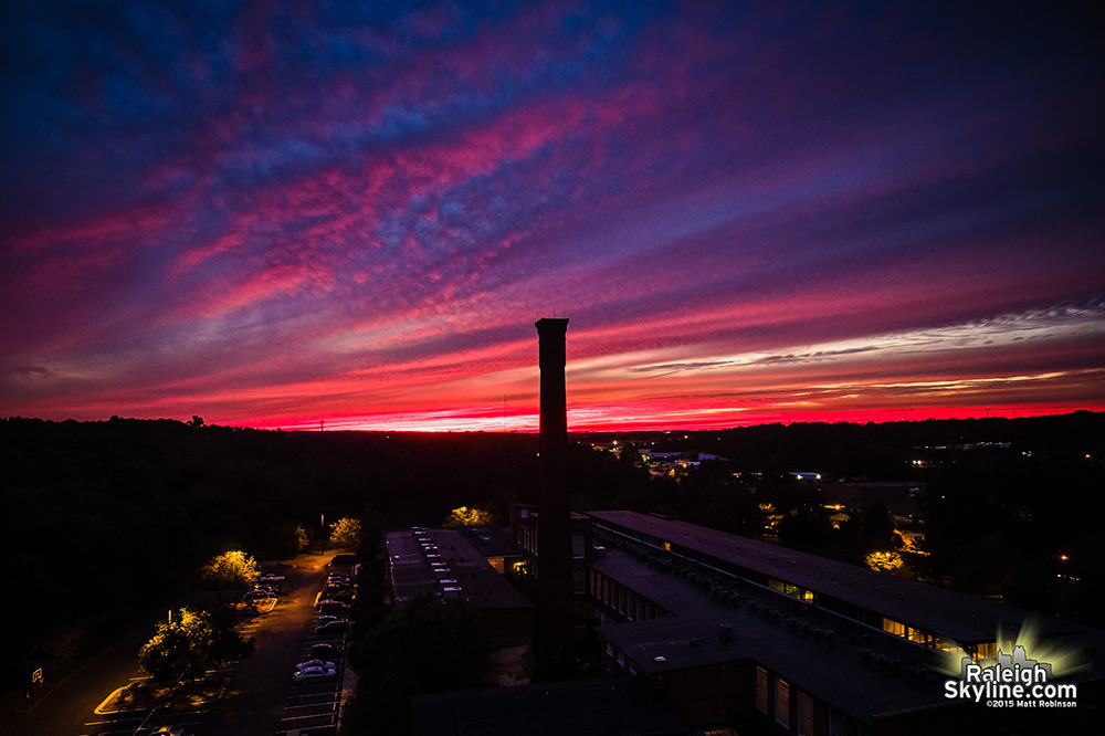 Caraleigh Mills Chimney Sunset