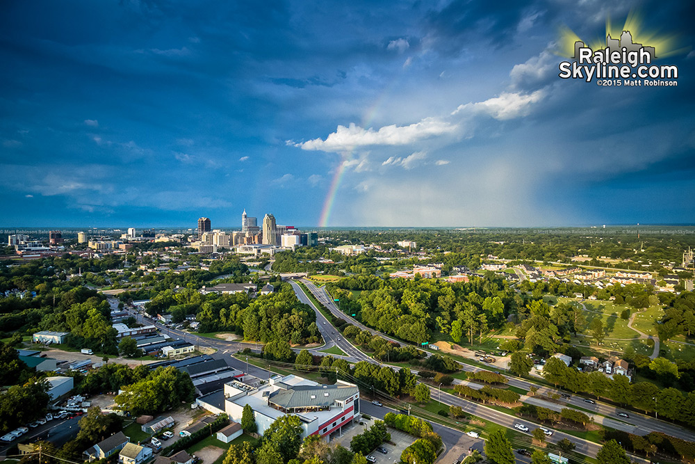 Rainbow over southwest Raleigh
