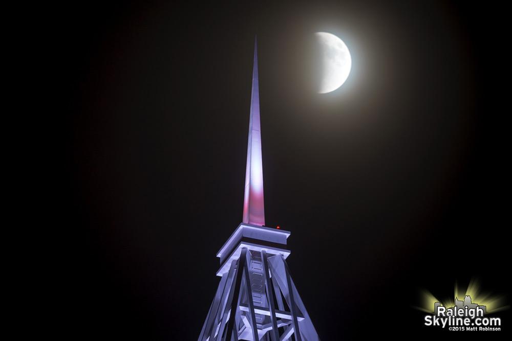 Lunar Eclipse in Raleigh