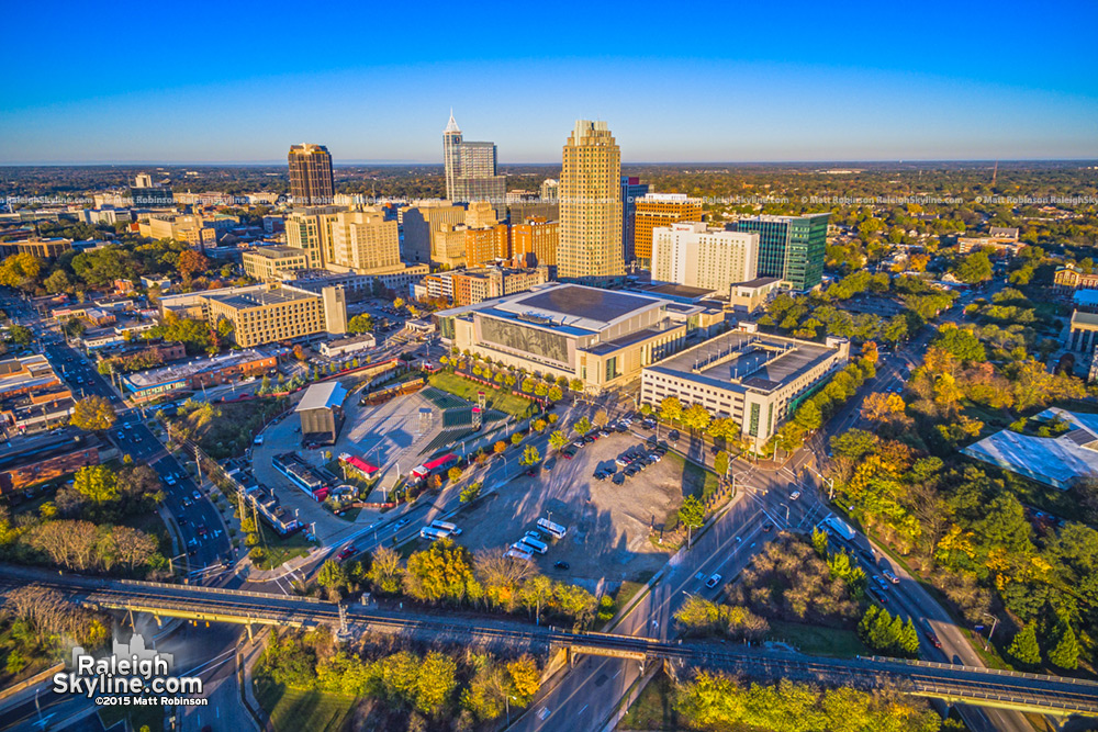 Aerial over Downtown Raleigh Fall 2015