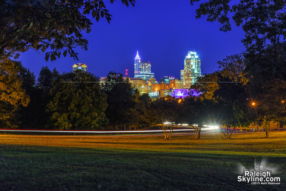 Downtown Raleigh at night 2015