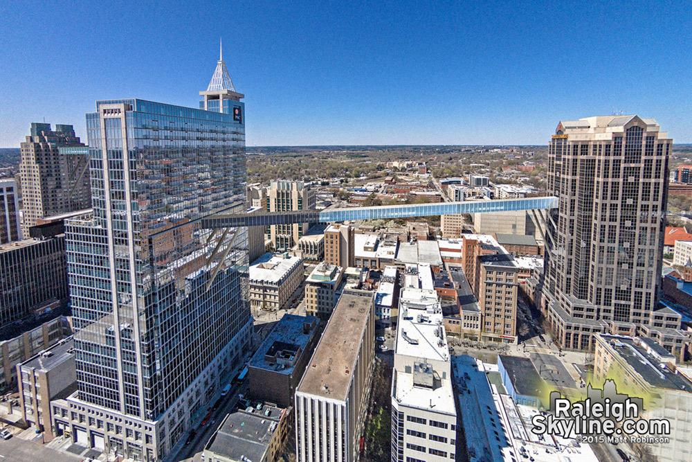 Proposed Raleigh SkyWalk between downtown buildings