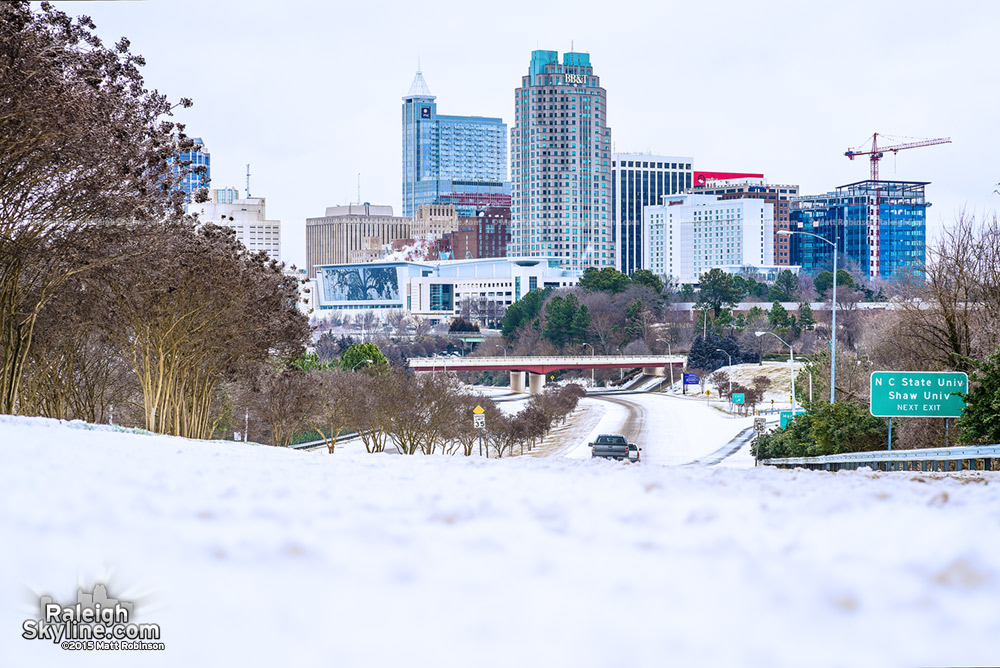 Snow Raleigh Skyline 2015