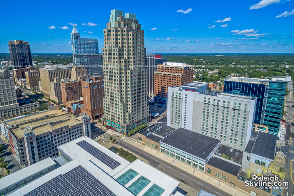 Raleigh aerial over the Convention Center