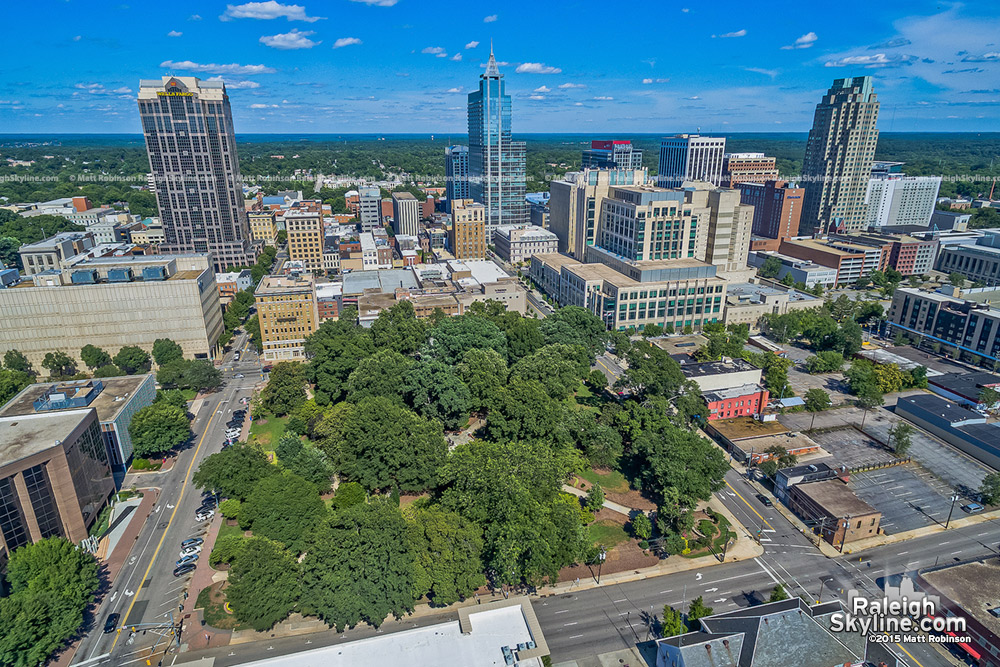 Raleigh Aerial over Nash Square