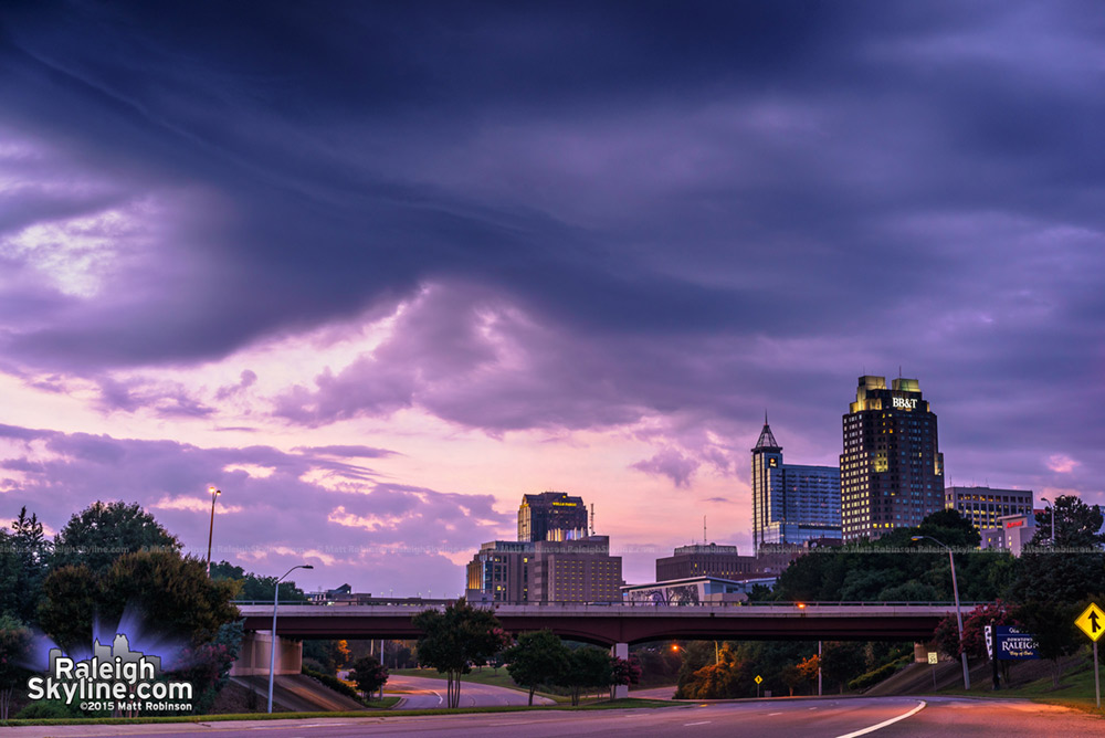 Stormy sunset over Raleigh