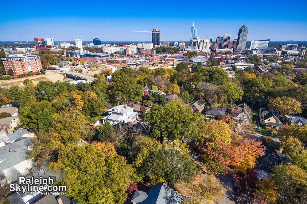 Fall colors over Boylan Heights