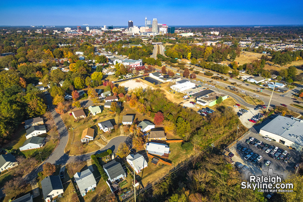 Southwest Raleigh with changing leaves