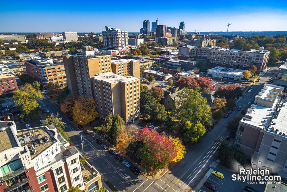 Raleigh's Glenwood South district and Fall colors