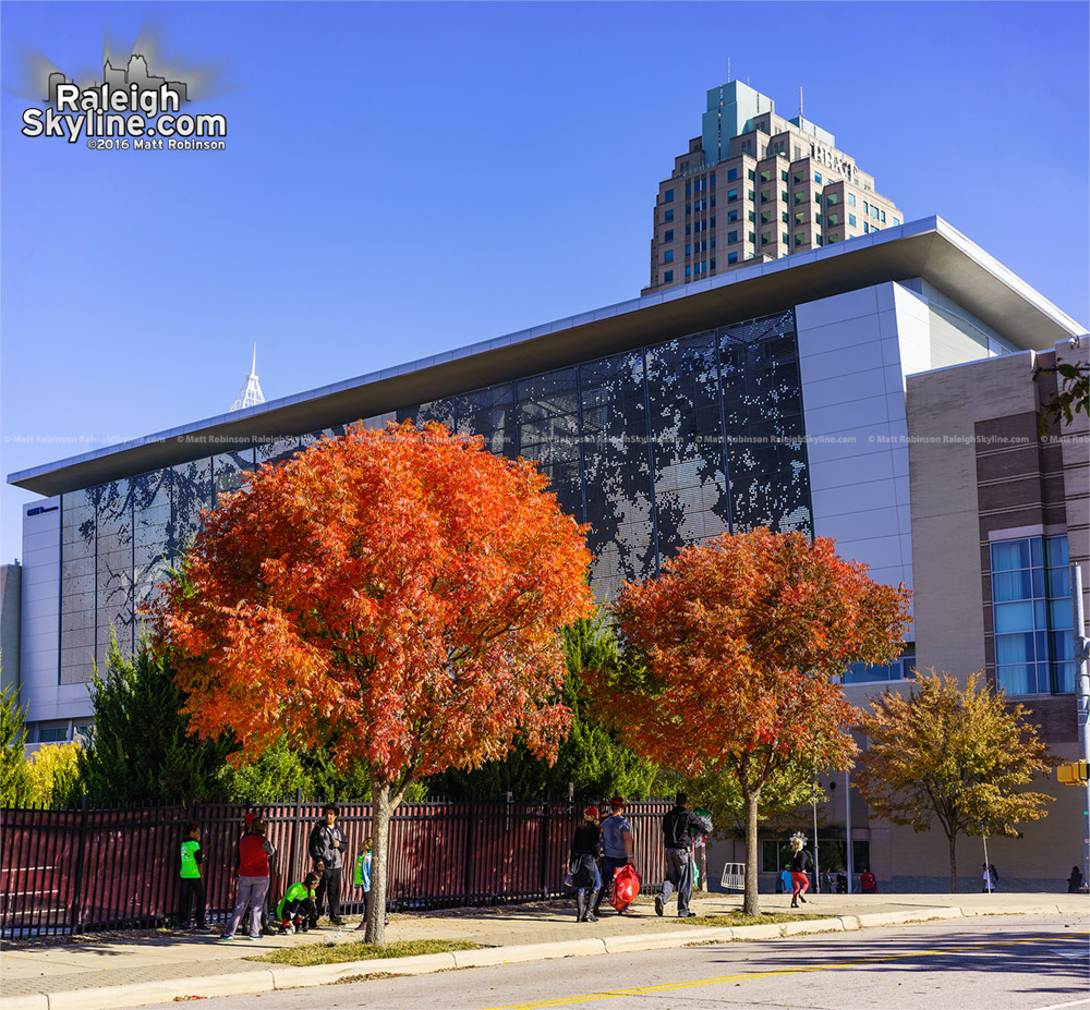 Bright fall colors at the Raleigh Convention Center