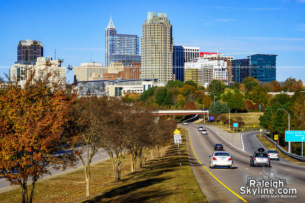 South Saunders Raleigh Skyline in the Fall 2016