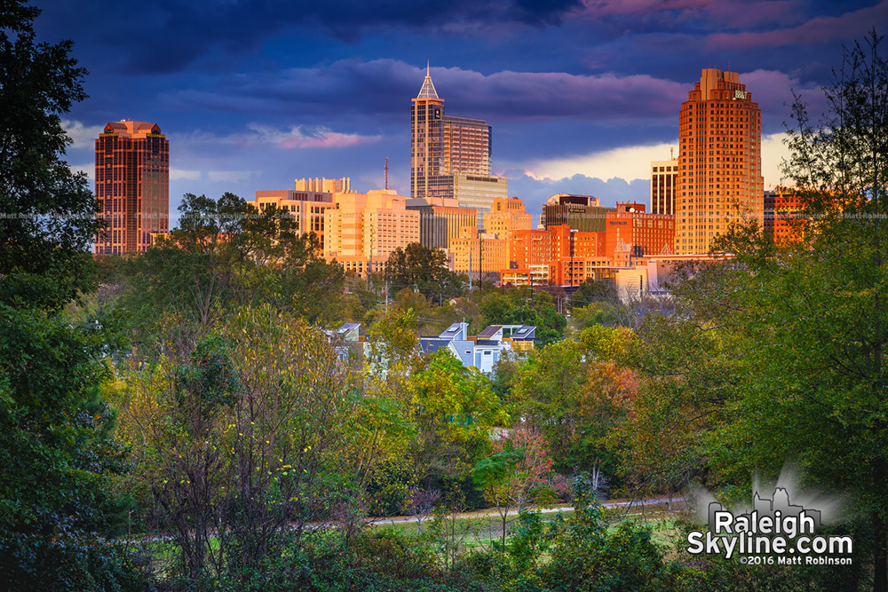 Raleigh sunset from Dorothea Dix Park