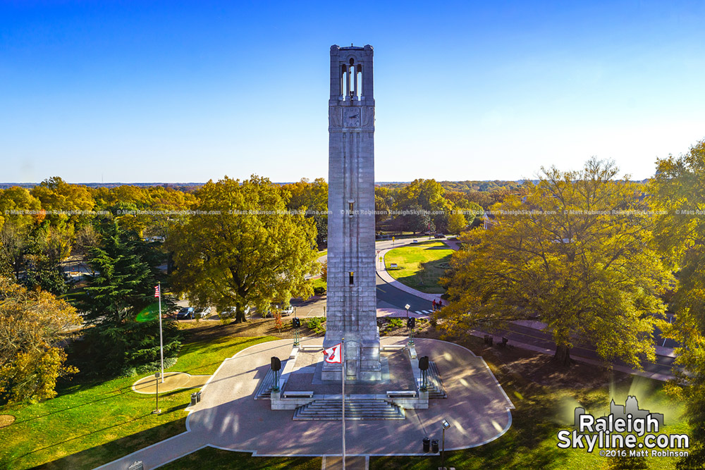 North Carolina State University Memorial Bell Tower with Fall Colors