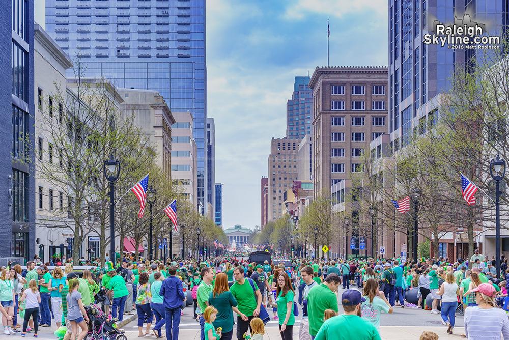 St. Patrick's day parade along Fayetteville Street
