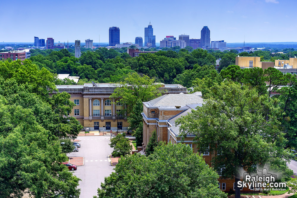 Downtown Raleigh from DH Hill Library