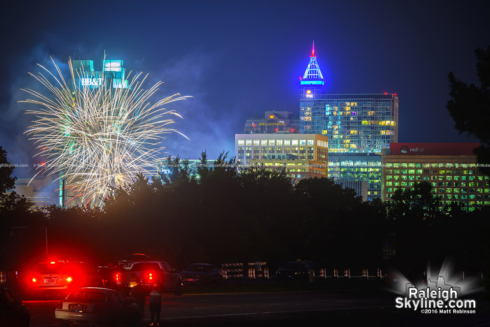 Fourth of July Fireworks with downtown from Hammond Road