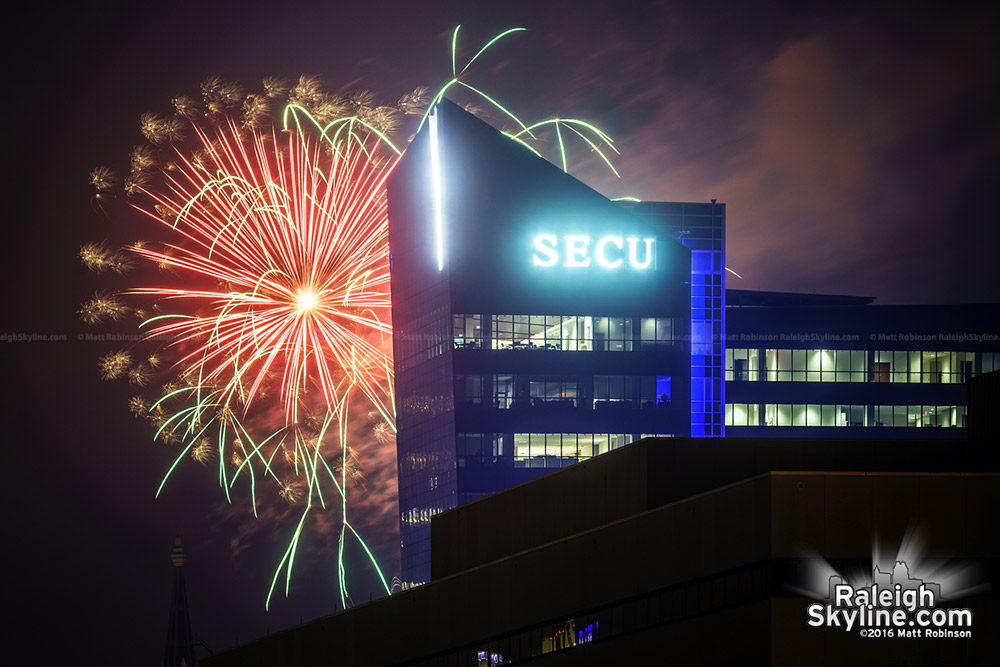 Firework blast behind SECU Headquarters