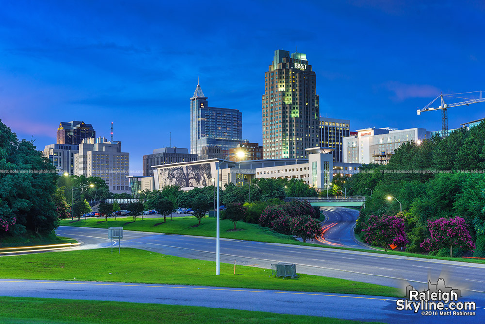 Downtown Raleigh at night summer 2016