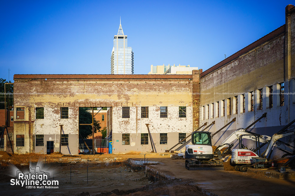Walls inside out at the new Dillon site in Raleigh