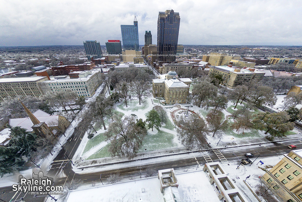 NC Capitol Building Raleigh Ice Storm January 23, 2016
