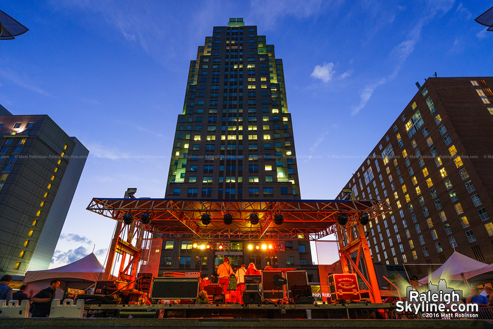 City Plaza stage in downtown Raleigh during Wide Open Bluegrass festival