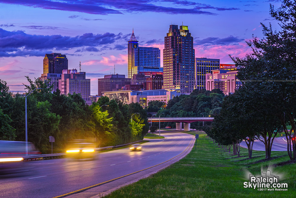 Downtown Raleigh Sunset on May 28, 2017