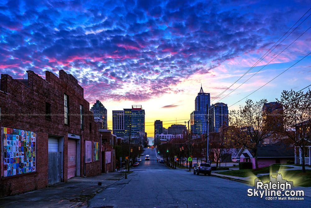 Sunset colors from Davie Street