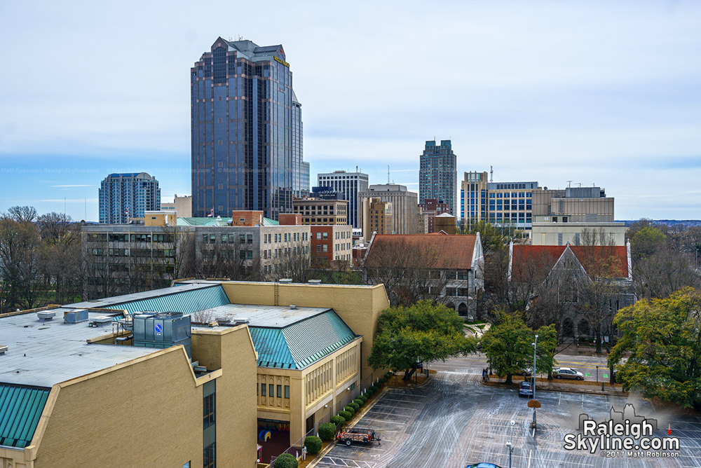 Raleigh from Green Square garage