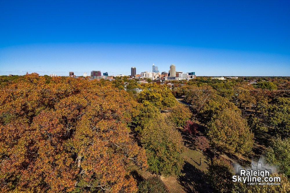 Raleigh rises above autumn colors