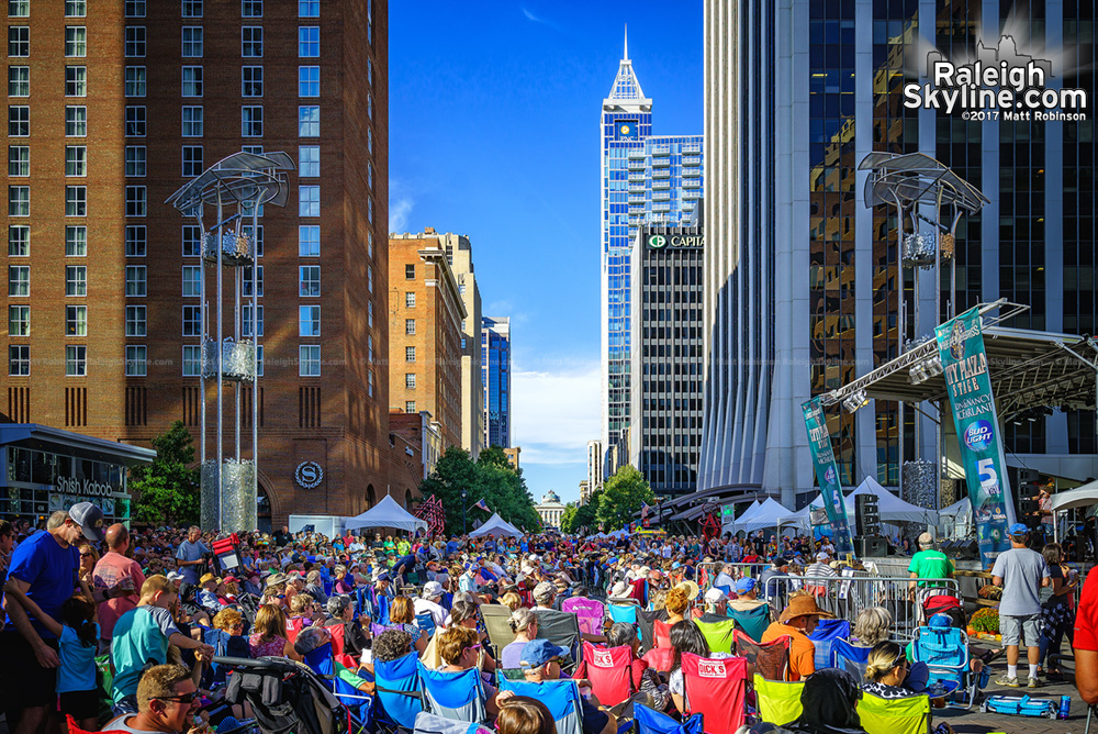 Crowds on Fayetteville Street during Wide Open Bluegrass Raleigh