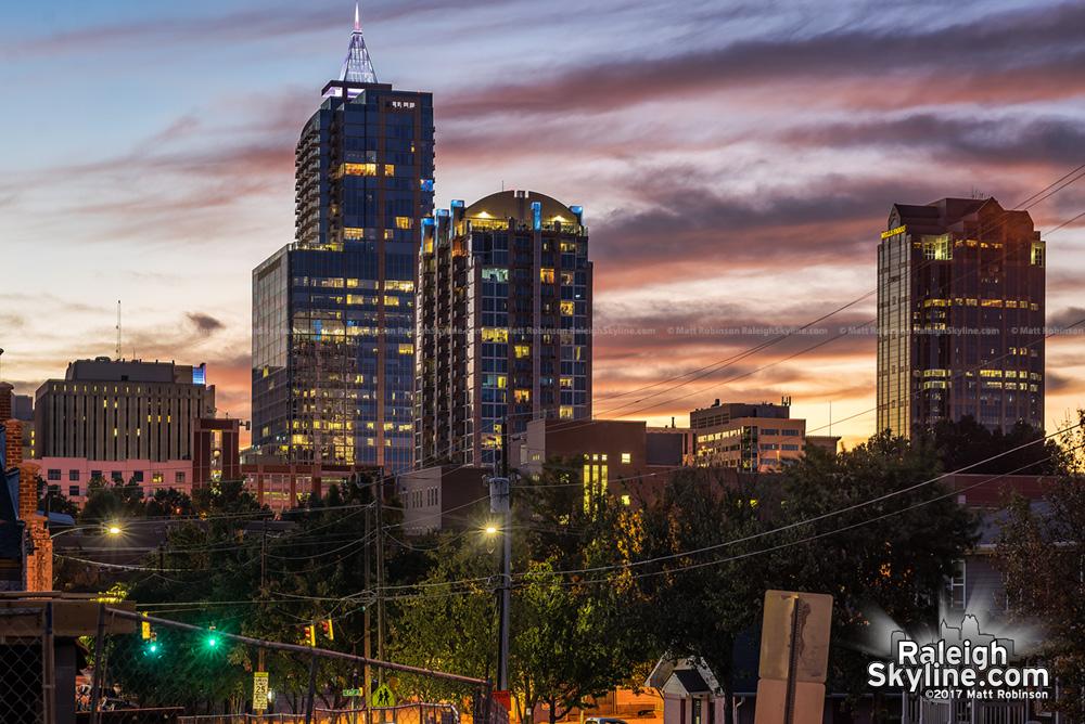 Fall sunset from Davie Street