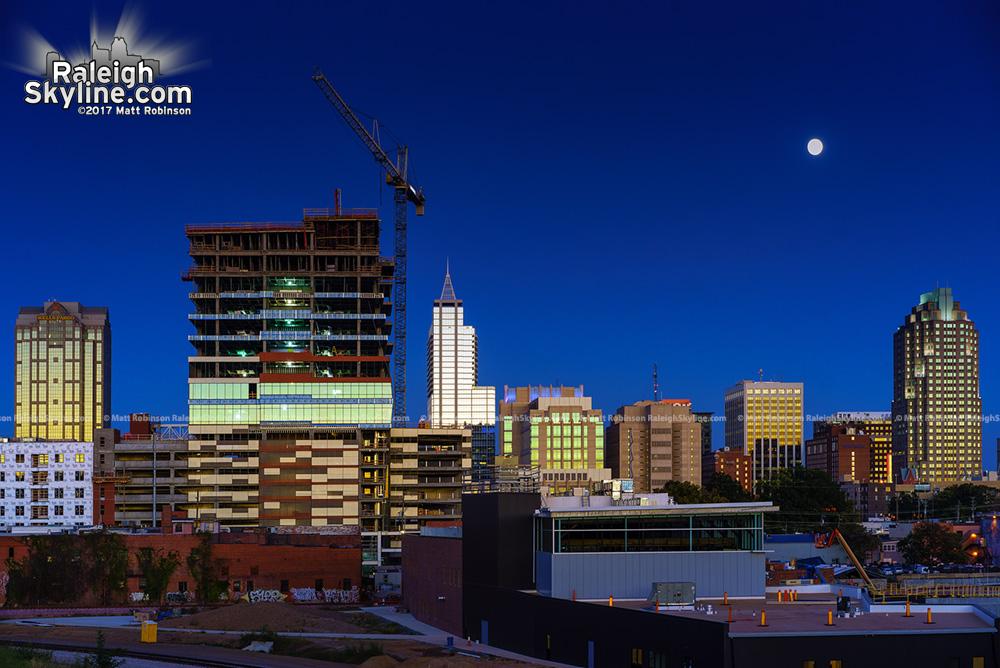 Raleigh Moonrise from Boylan