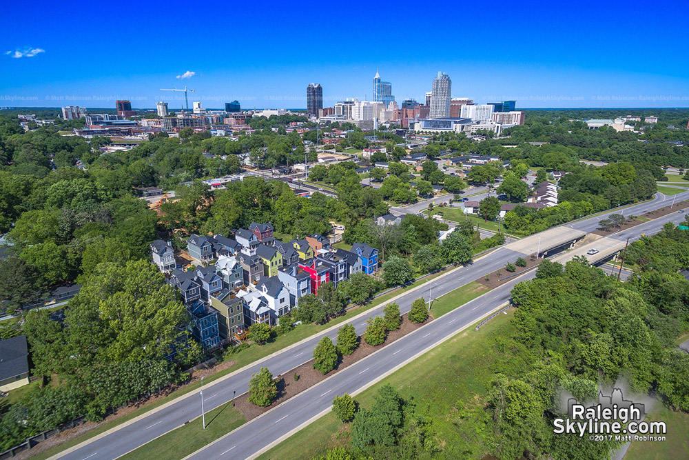 Aerial over Dix Park looking towards Dorothea Gardens