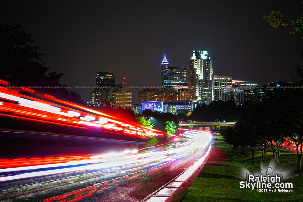 Firetrucks rush out of downtown Raleigh