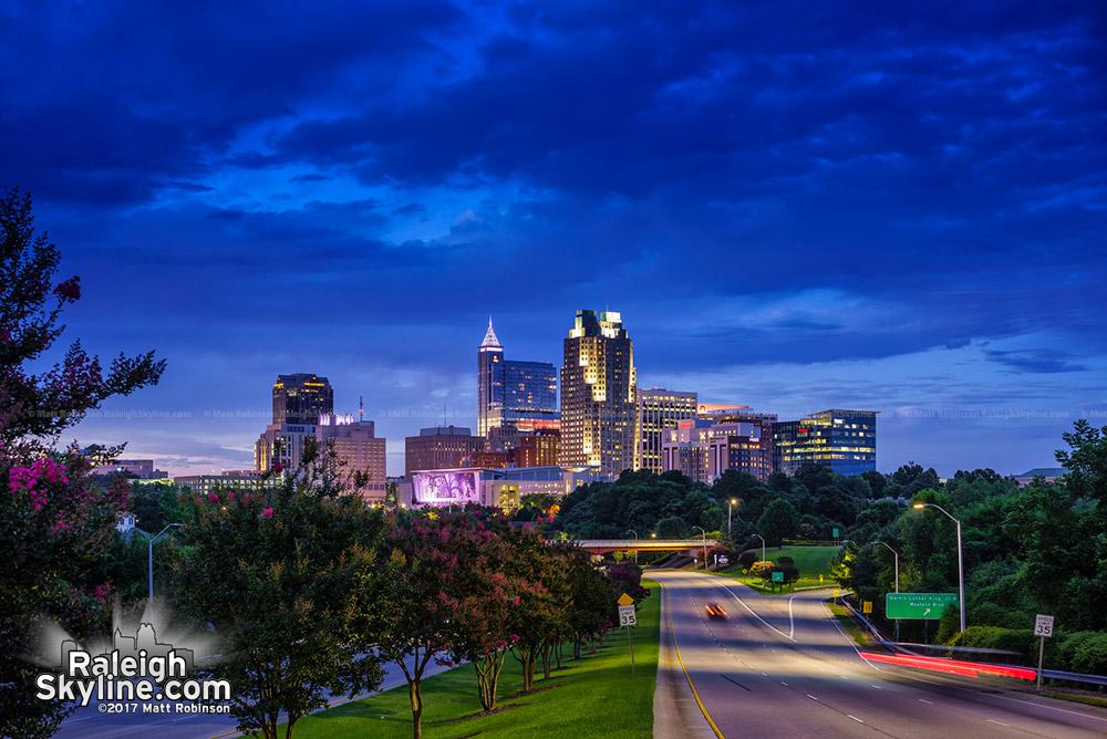 Raleigh after dark