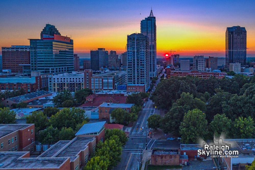 Sunset Raleigh-henge September 2017